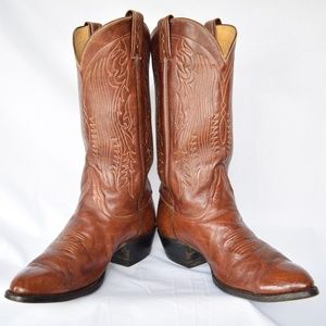 Vintage Tony Lama leather western cowboy boots